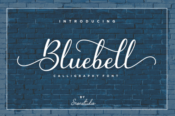 Print on Demand: Bluebell Script & Handwritten Font By Sronstudio