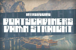 Boatycabiners Damn Straight Display Font By Chequered Ink