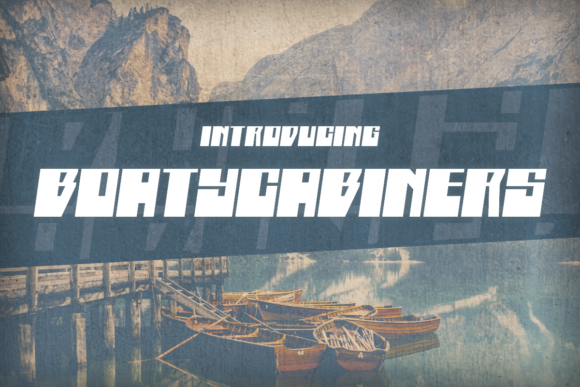 Print on Demand: Boatycabiners Display Font By Chequered Ink