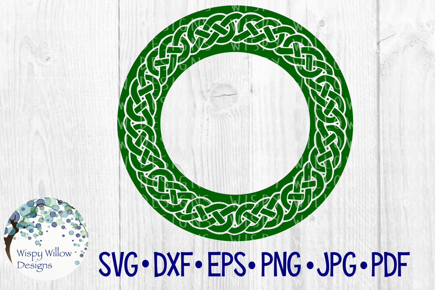 Download Free Bold Celtic Border Name Frame Monogram Irish Braid Cut File for Cricut Explore, Silhouette and other cutting machines.