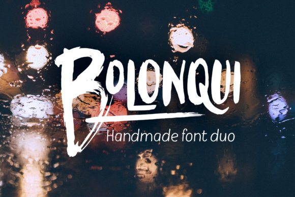Print on Demand: Bolonqui Duo Display Font By magofonts