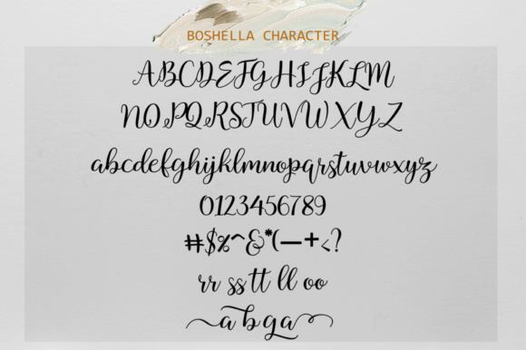 Print on Demand: Boshella Script Script & Handwritten Font By rotterlabstudio - Image 6