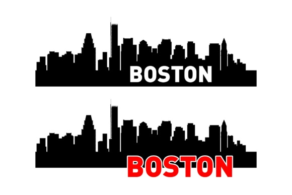 Download Free Boston Skyline 2 Layouts Graphic By Studio 26 Design Co for Cricut Explore, Silhouette and other cutting machines.