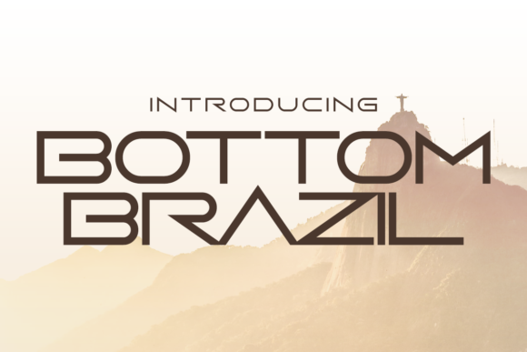 Print on Demand: Bottom Brazil Display Font By Chequered Ink