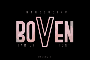 Boven Font By mrkhoir012