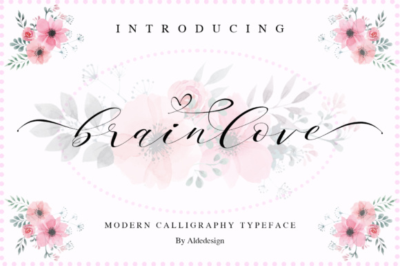 Print on Demand: Brainlove Script Script & Handwritten Font By aldedesign