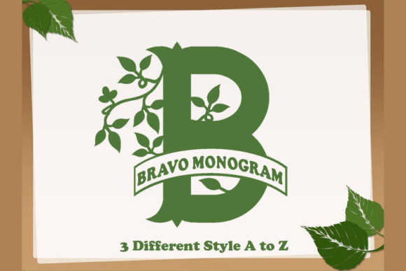 Print on Demand: Bravo Monogram Script & Handwritten Font By Amanda_Design