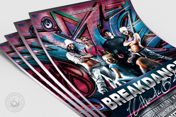 Download Free Breakdance Battle Flyer Template V3 Grafico Por Thatsdesignstore for Cricut Explore, Silhouette and other cutting machines.