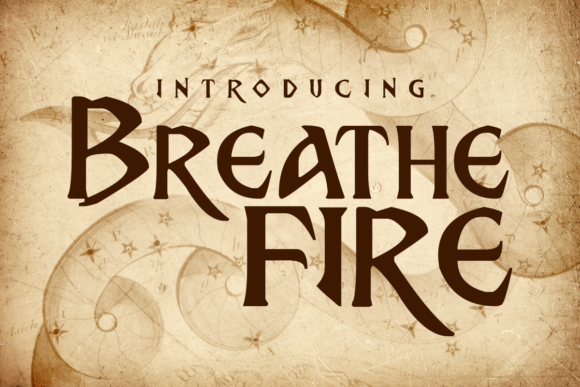 Print on Demand: Breath Fire Display Schriftarten von Chequered Ink