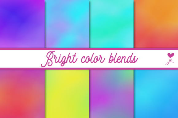 Print on Demand: Bright Color Blends Graphic Textures By JulieCampbellDesigns