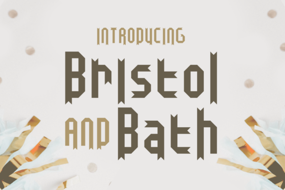 Print on Demand: Bristol and Bath Display Font By Chequered Ink