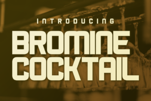 Bromine Cocktail Display Font By Chequered Ink
