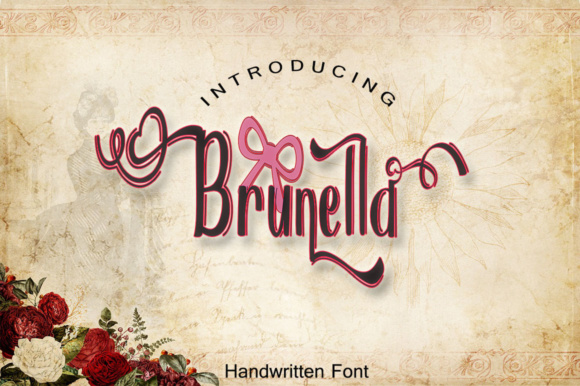 Print on Demand: Brunella Script & Handwritten Font By dmletter31