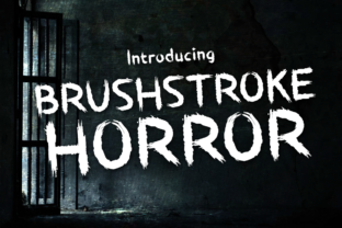 Print on Demand: Brushstroke Horror Display Font By Chequered Ink