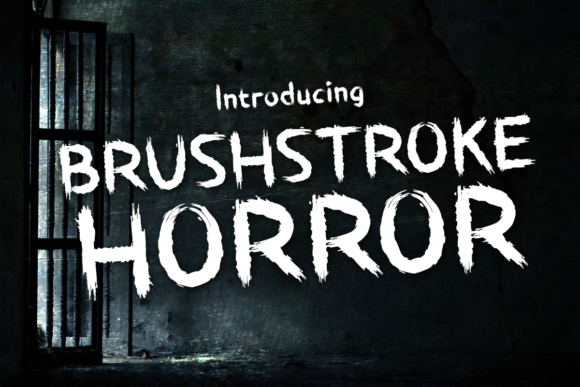 Print on Demand: Brushstroke Horror Display Font By Chequered Ink - Image 1
