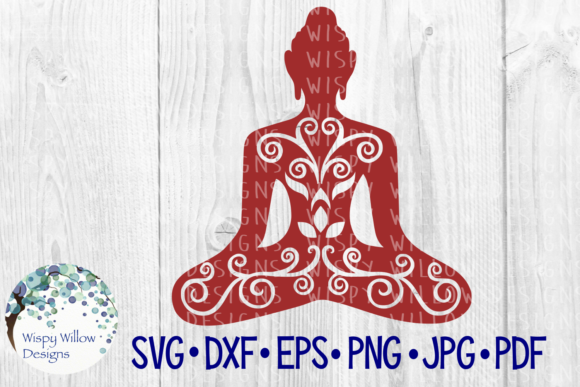 Download Free Buddha Buddhism Yoga Cut File Graphic By Wispywillowdesigns for Cricut Explore, Silhouette and other cutting machines.