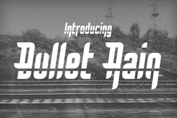 Print on Demand: Bullet Rain Display Font By Chequered Ink