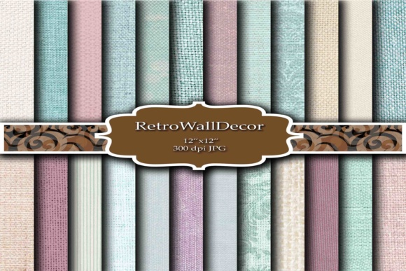 Print on Demand: Burlap Digital Papers Graphic Backgrounds By retrowalldecor