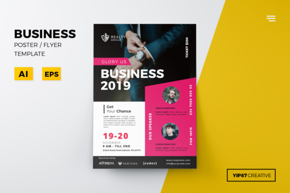 Business Flyer Graphic Print Templates By yip87