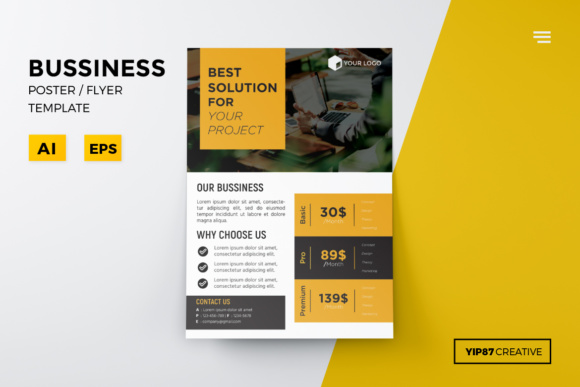Business Flyer Graphic Print Templates By yip87 - Image 1