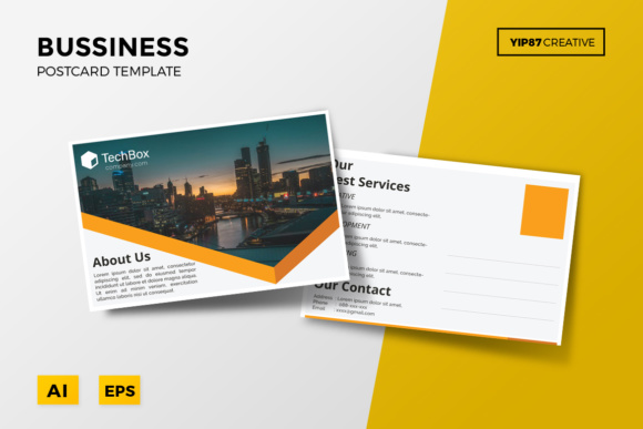 Business Postcard Graphic Print Templates By yip87