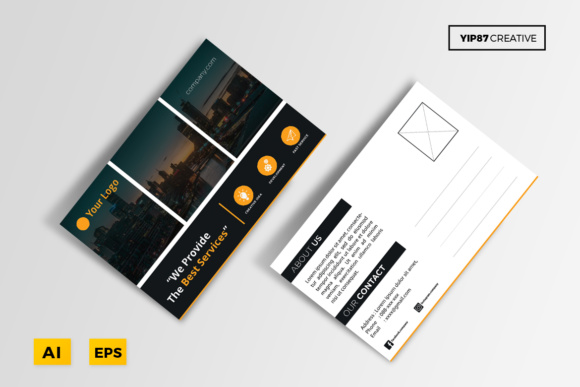 Business Postcard Graphic Print Templates By yip87 - Image 2