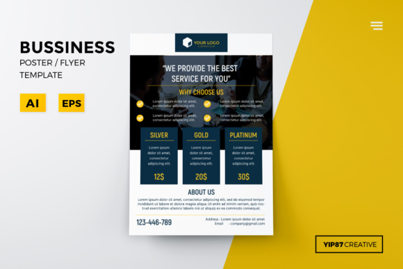 Business Pricing Flyer AI - EPS Graphic Print Templates By yip87