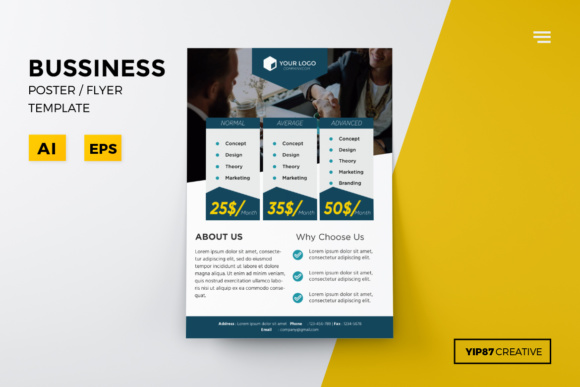business pricing flyer template graphic by yip87 creative fabrica