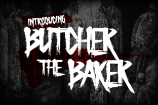 Butcher the Baker Display Font By Chequered Ink