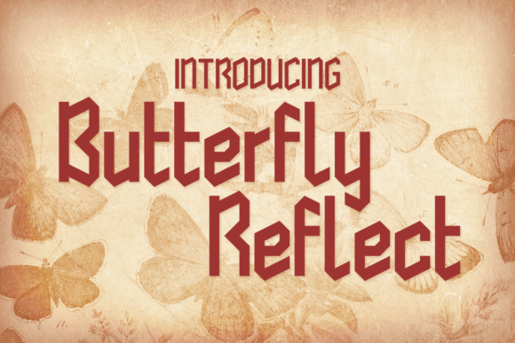 Print on Demand: Butterfly Reflect Display Font By Chequered Ink