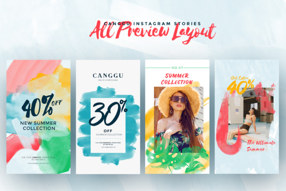 CANGGU-Tropical Instagram Stories Animated Graphic Presentation Templates By invasistudio - Image 4