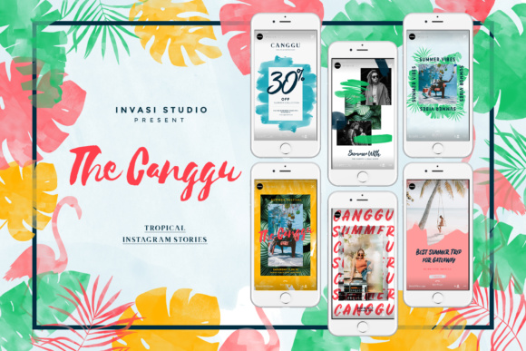 CANGGU-Tropical Instagram Stories Animated Graphic Presentation Templates By invasistudio - Image 1