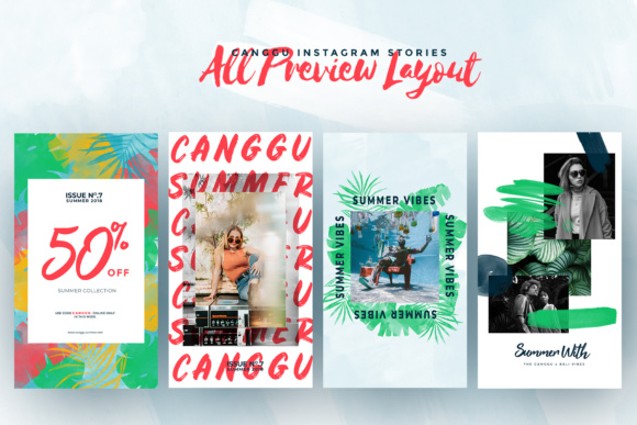 CANGGU-Tropical Instagram Stories Animated Graphic Presentation Templates By invasistudio - Image 7
