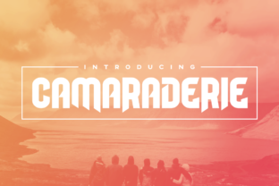 Camaraderie Display Font By Chequered Ink