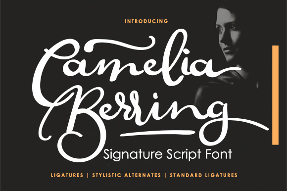 Download Free Camelia Berring Script Font By Noyot246 Creative Fabrica for Cricut Explore, Silhouette and other cutting machines.