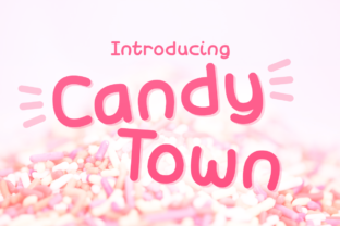 Candy Town Display Font By Chequered Ink