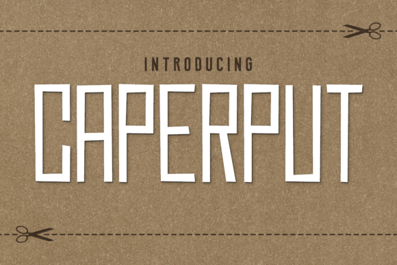 Print on Demand: Caperput Display Font By Chequered Ink - Image 1
