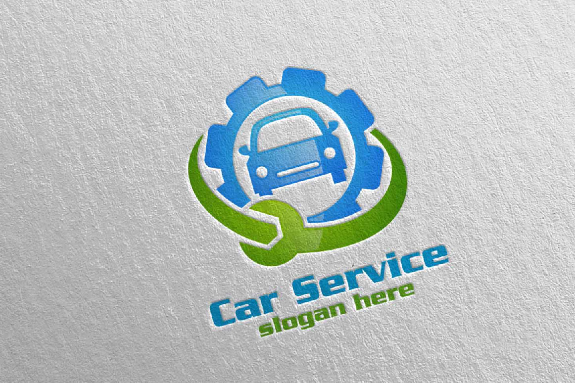 Download Free Car Service Logo With Car And Repair Concept Graphic By SVG Cut Files