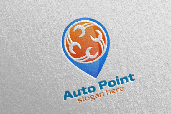Car Service Logo with Car and Repair Concept Graphic Logos By denayunecf