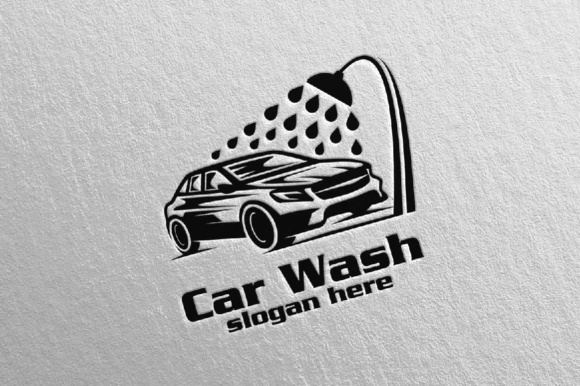 Download Free Car Wash Logo Graphic By Denayunecf Creative Fabrica for Cricut Explore, Silhouette and other cutting machines.