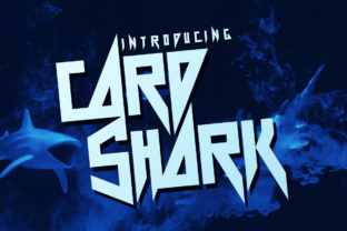 Card Shark Display Font By Chequered Ink
