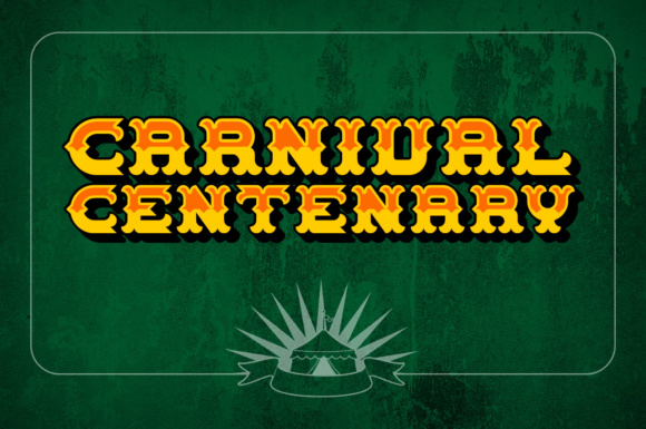 Print on Demand: Carnival Centenary Decorative Font By Chequered Ink