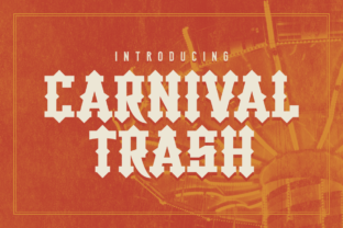 Carnival Trash Display Font By Chequered Ink