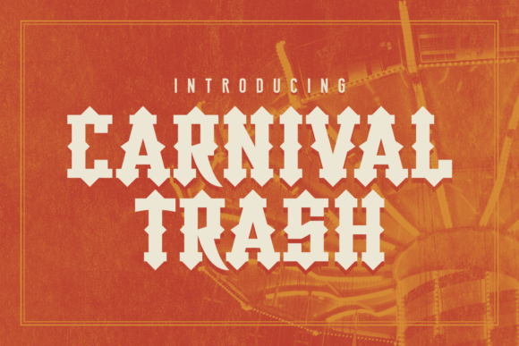 Print on Demand: Carnival Trash Display Font By Chequered Ink