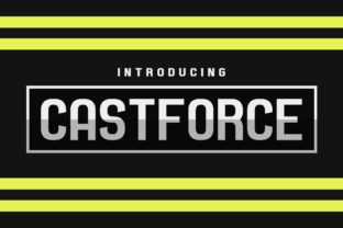 Castforce Display Font By Chequered Ink