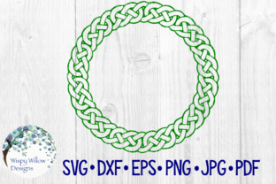 Download Free Celtic Border Name Monogram Frame Circle Irish Braid Cut File for Cricut Explore, Silhouette and other cutting machines.