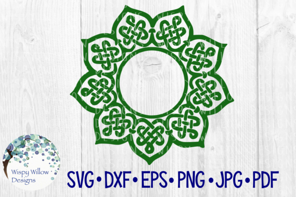 Download Free Celtic Mandala Irish Braid Name Frame Monogram Border Circle for Cricut Explore, Silhouette and other cutting machines.