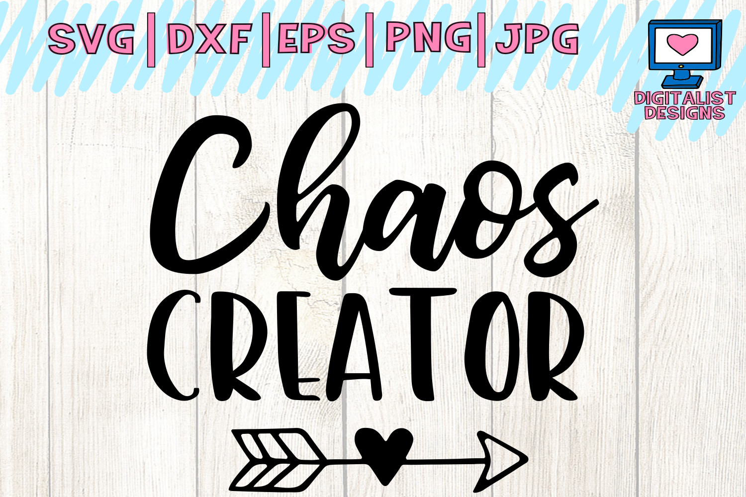 Download Free Chaos Creator Funny Heart Arrow Graphic By Digitalistdesigns for Cricut Explore, Silhouette and other cutting machines.