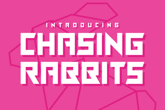 Print on Demand: Chasing Rabbits Display Font By Chequered Ink