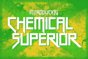 Chemical Superior Display Font By Chequered Ink